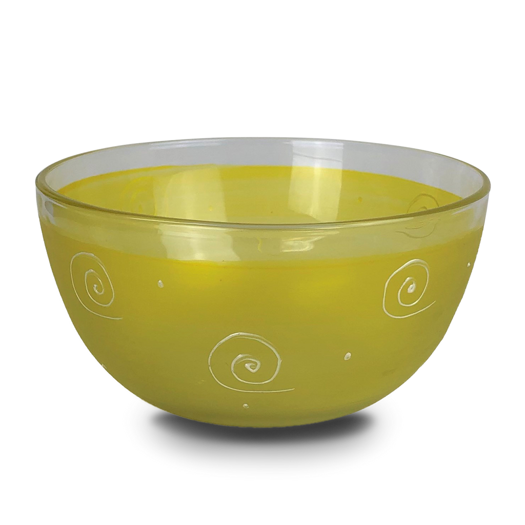 "Peruvian Splendor Yellow 6"" Bowl - Golden Hill Studio"