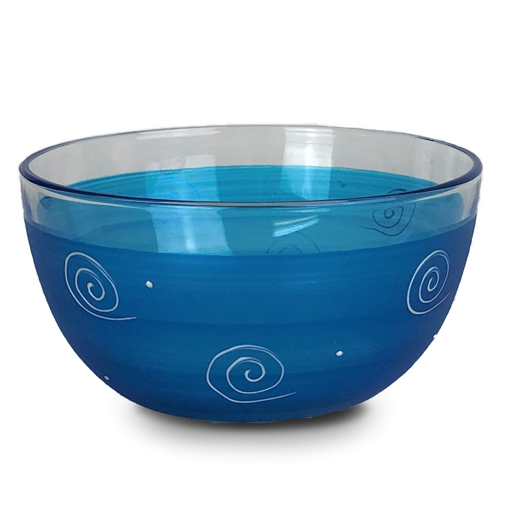 Peruvian Splendor Turquoise 6' Bowl - Golden Hill Studio