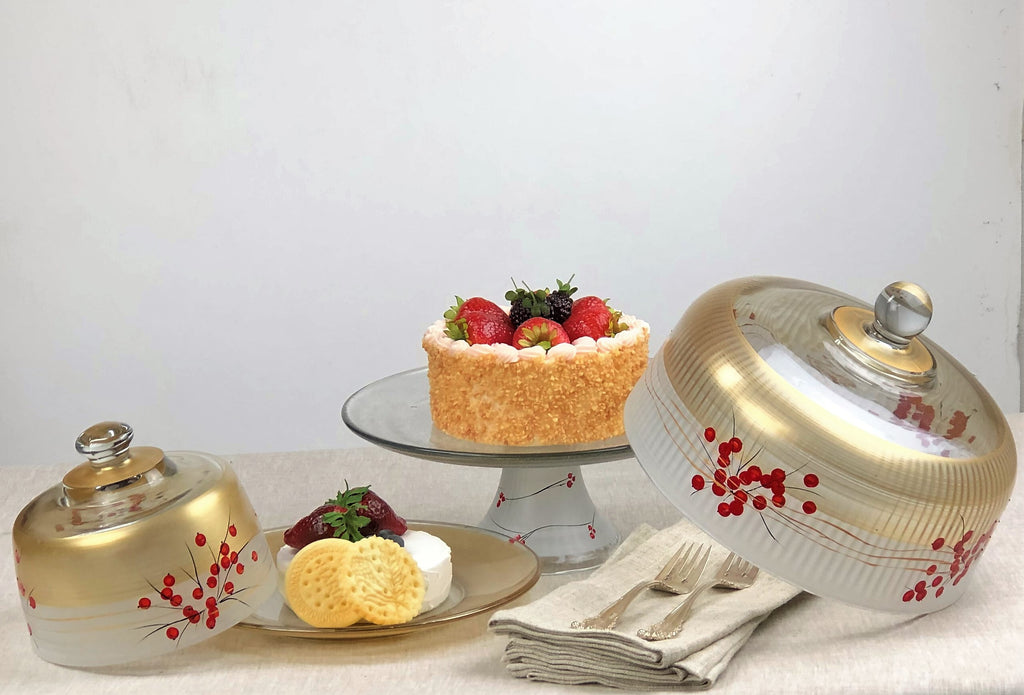 Winter Berries 'n Branches Cheese Dome - Golden Hill Studio