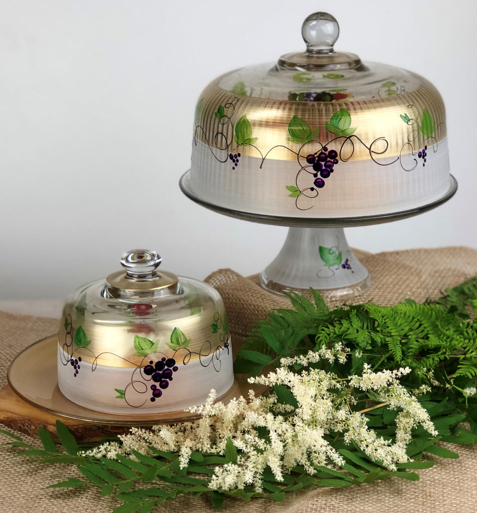 Napa Grapes n' Vines Cake Dome - Golden Hill Studio