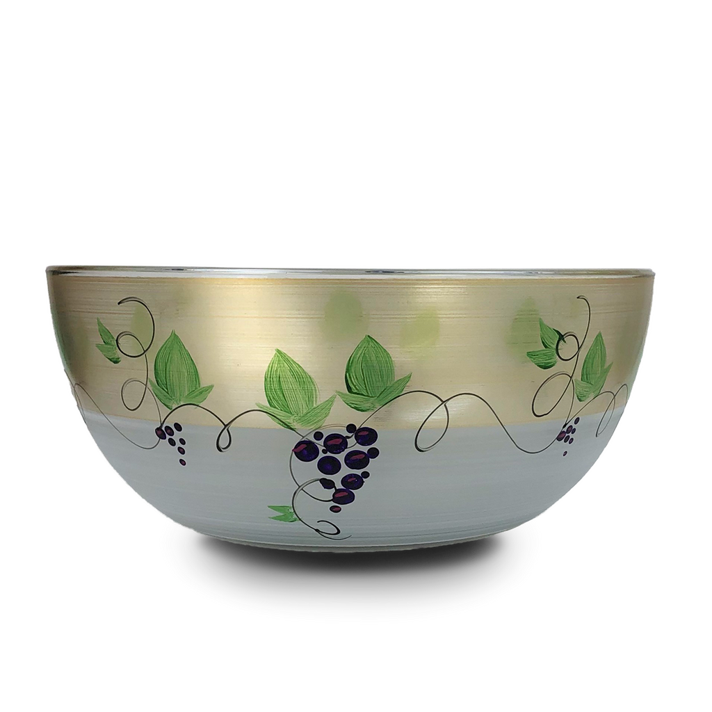 "Napa Grapes n' Vines 11"" Bowl - Golden Hill Studio"