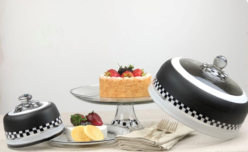 Black & White Cake Dome - Golden Hill Studio