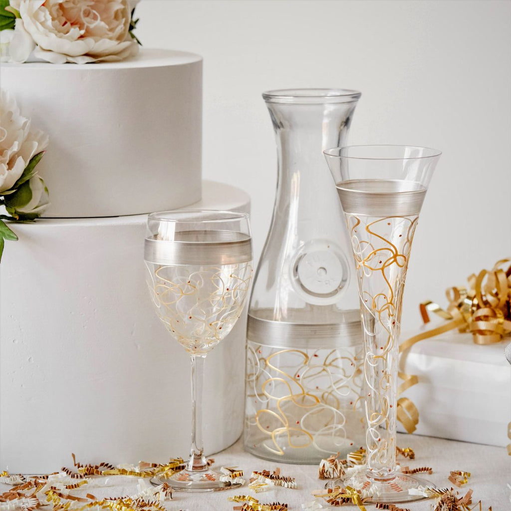 Celebration Streamers Carafe - Golden Hill Studio