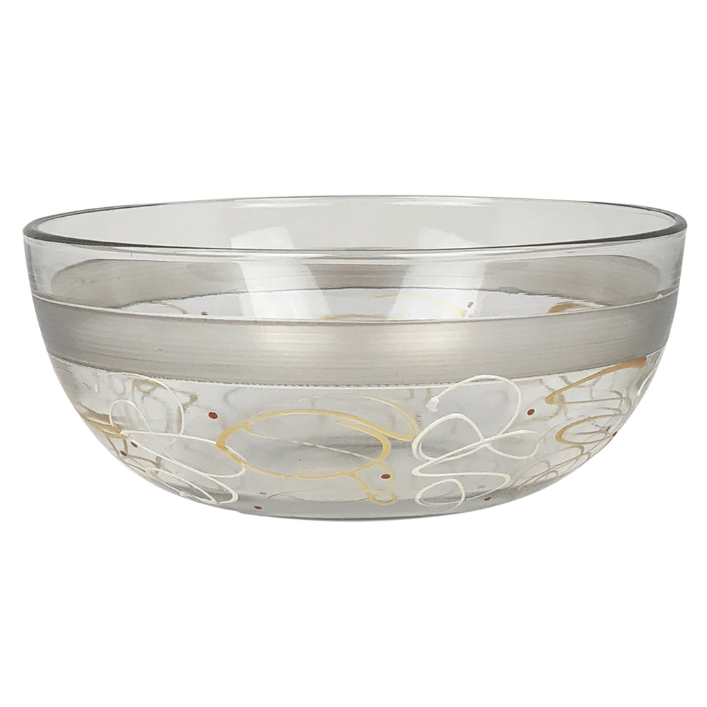 "Celebration Streamers 11"" Bowl - Golden Hill Studio"