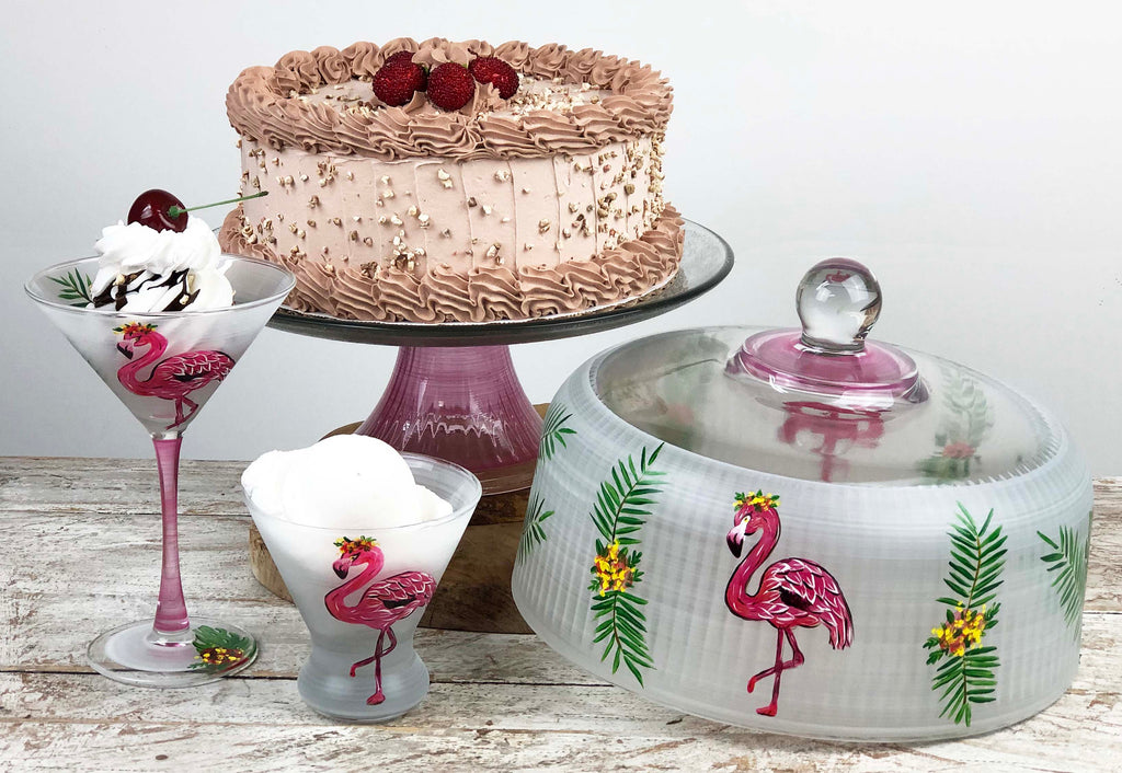 Flamingo Fun Cake Dome - Golden Hill Studio