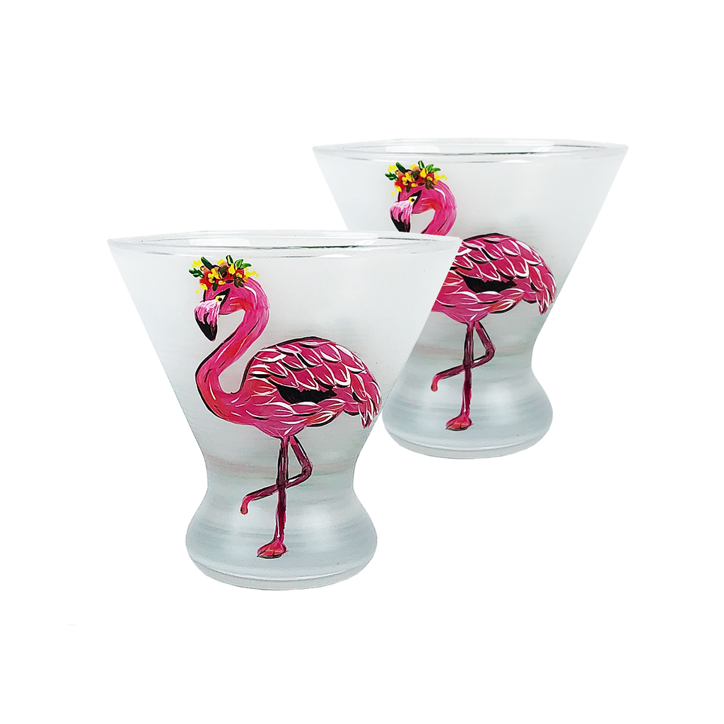 Flamingo Fun Cosmopolitan S/2 - Golden Hill Studio