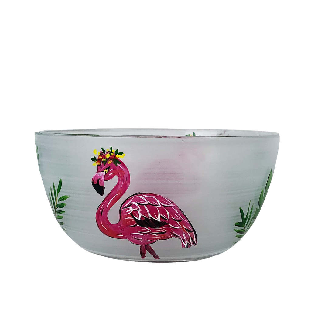 "Flamingo Fun 6"" Bowl - Golden Hill Studio"