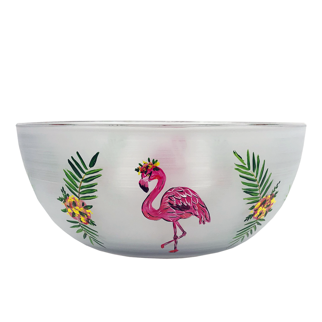 "Flamingo Fun 11"" Bowl - Golden Hill Studio"