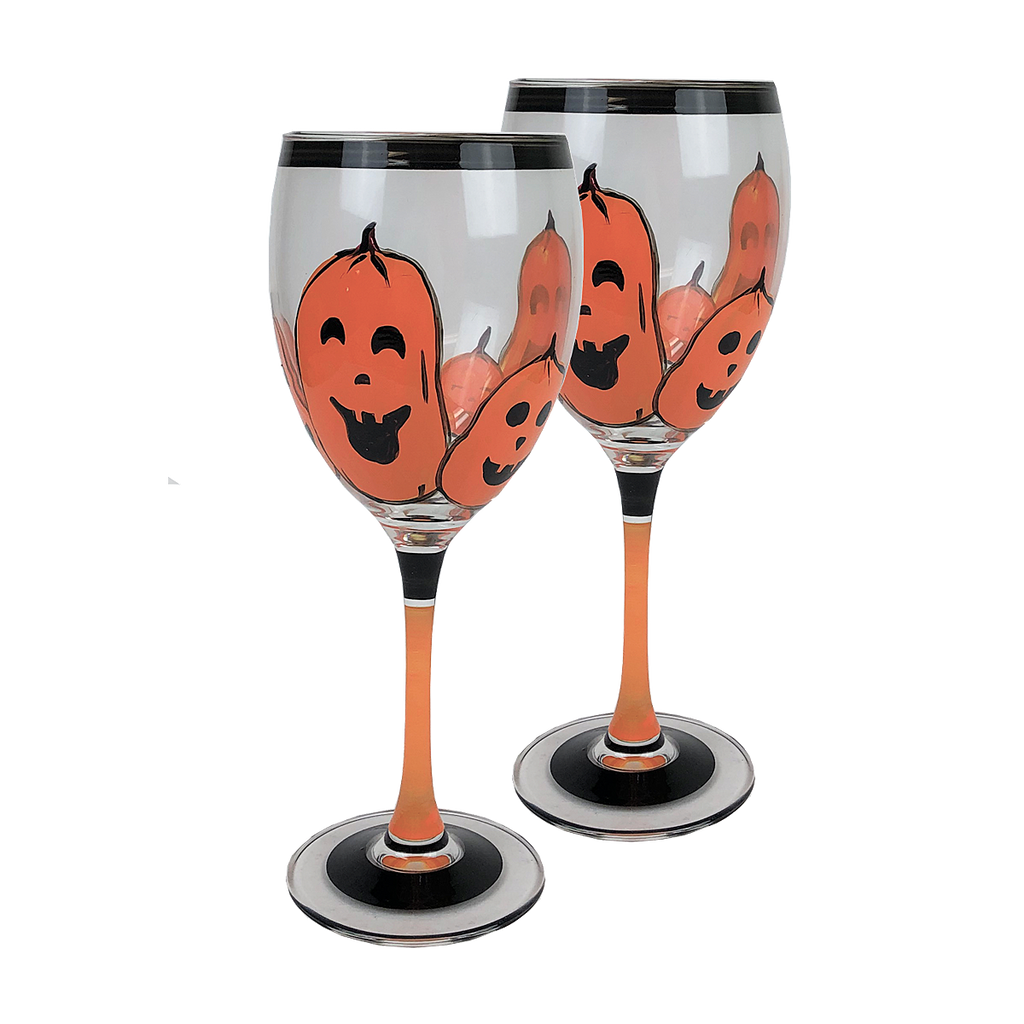 Pumpkin Family Wine S/2 - Golden Hill Studio