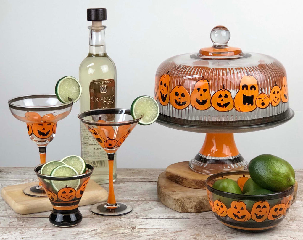 Pumpkin Family Martini S/2 - Golden Hill Studio