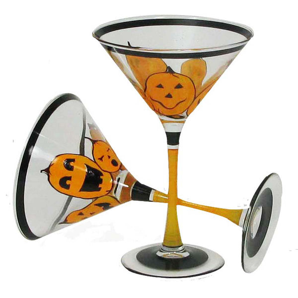 Pumpkin Family Martini Set of 2