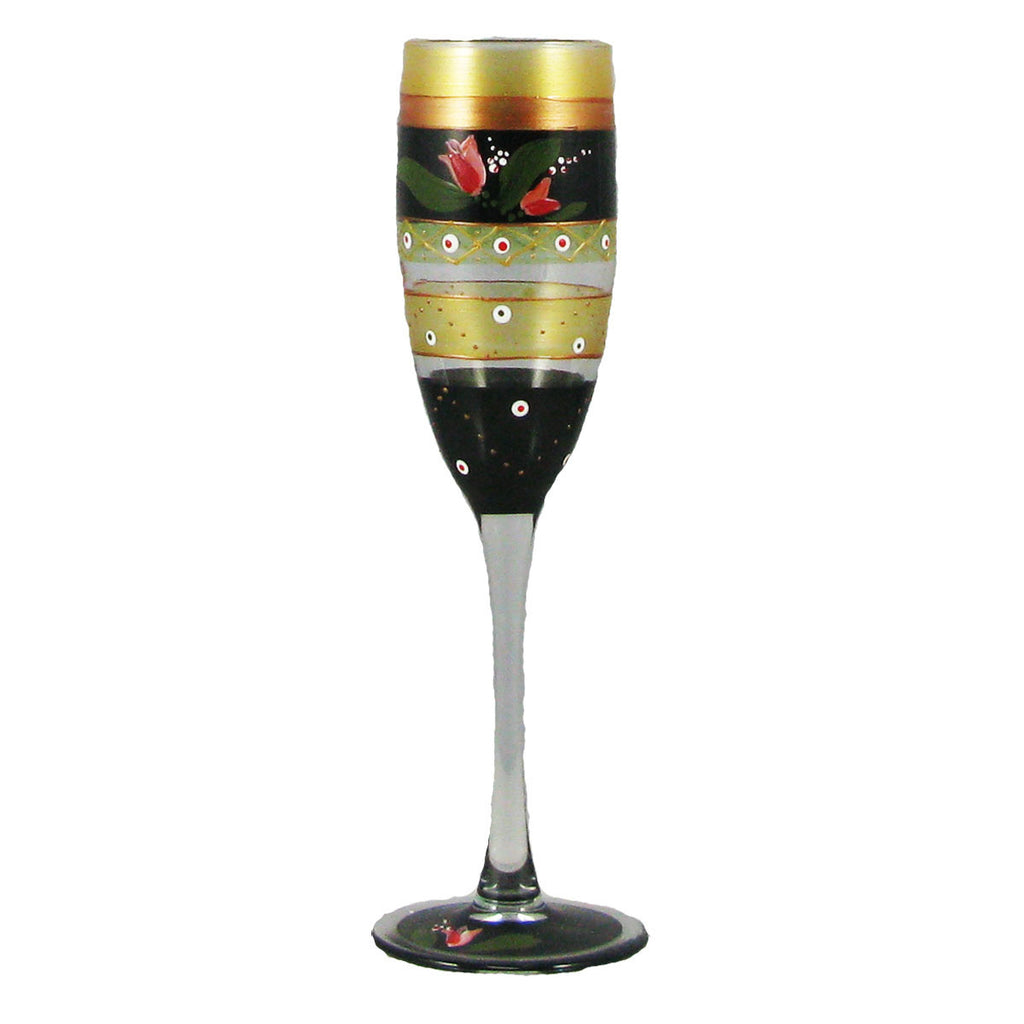 Tulip Floral Champagne   Set of 2