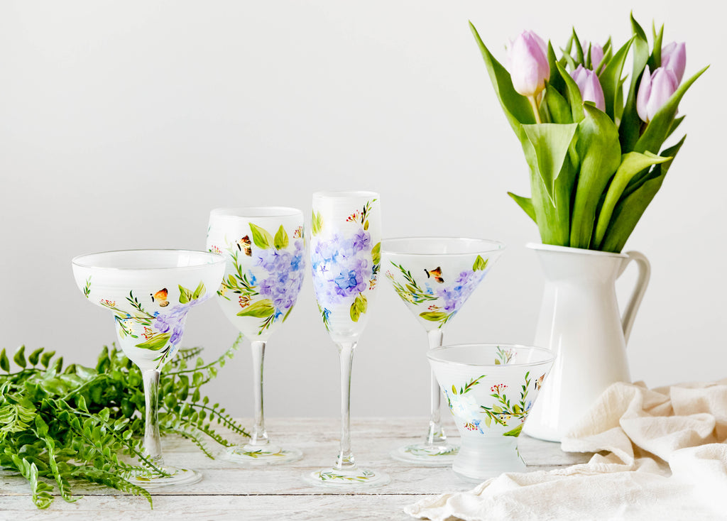 Springtime in Paris Martini  Set of 2 - Golden Hill Studio