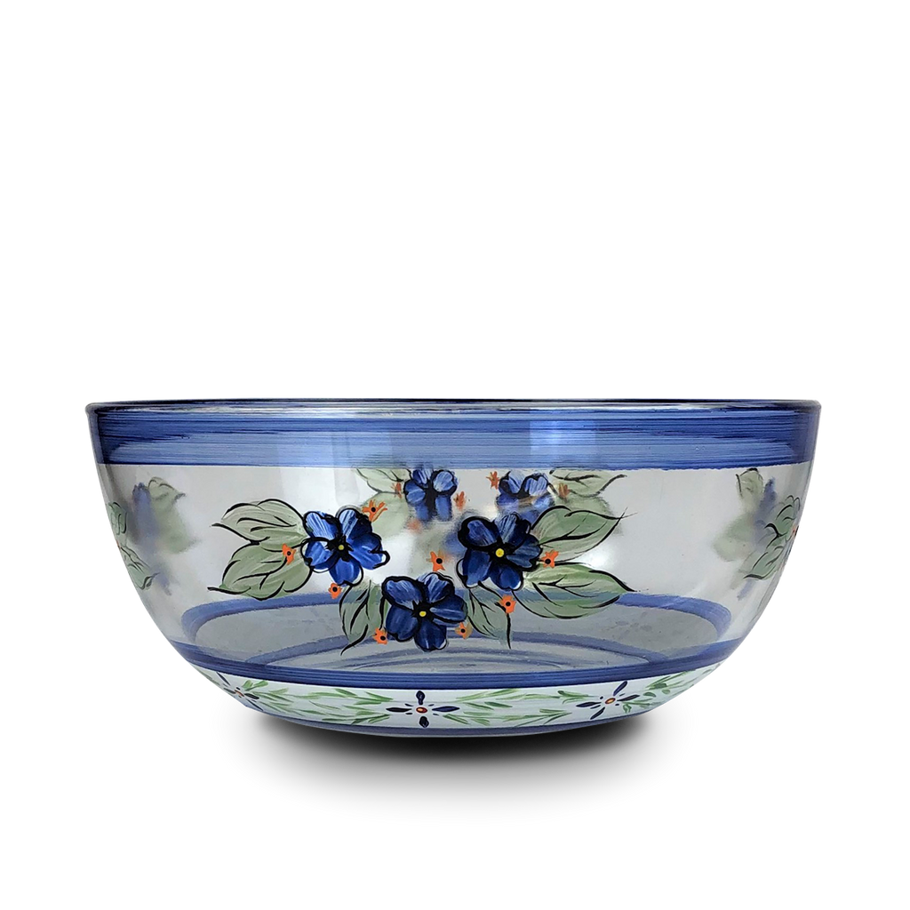 "Barcelona Blue 11"" Bowl - Golden Hill Studio"