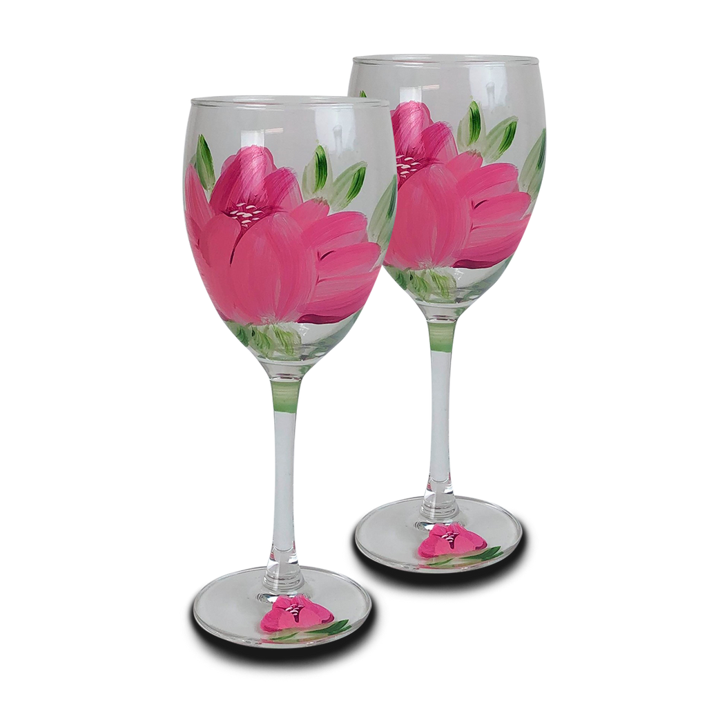 Polynesian Peony Wine   S/2 - Golden Hill Studio