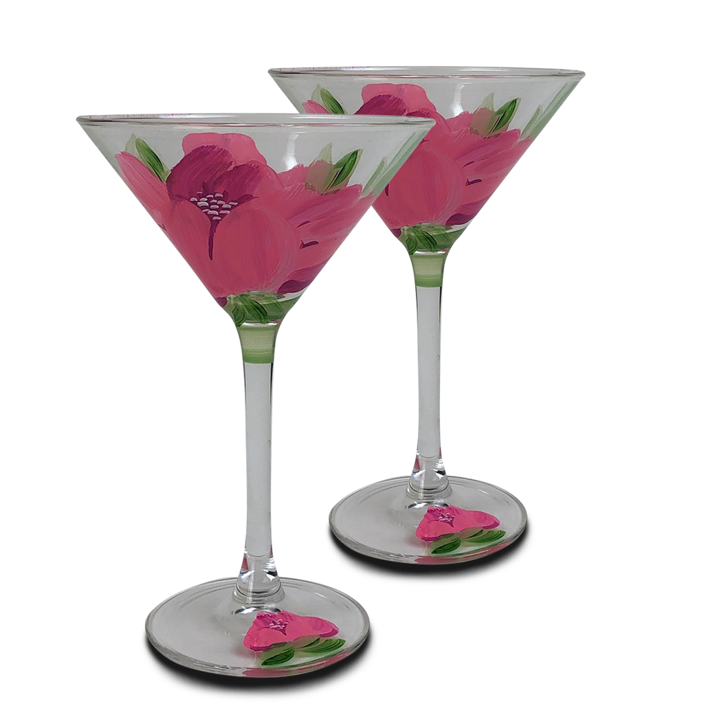 Polynesian Peony Martini   Set of 2 - Golden Hill Studio