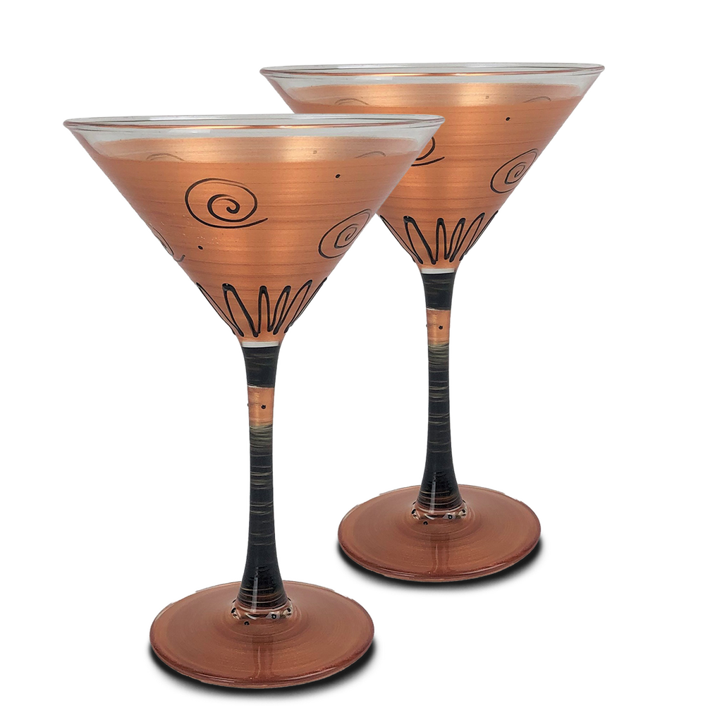 Tuscan Sunset Martini   Set of 2 - Golden Hill Studio