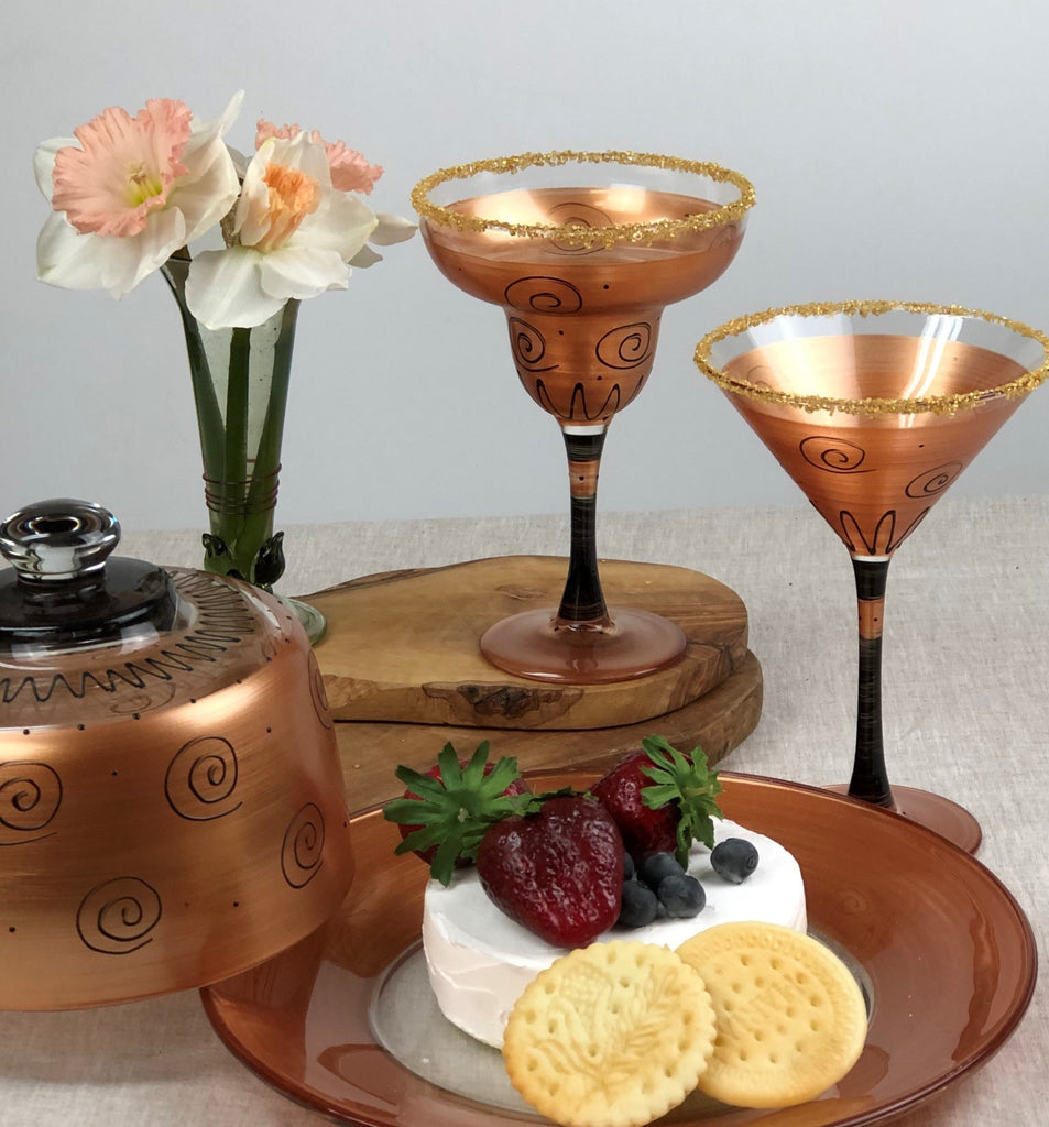 Tuscan Sunset Margarita   Set of 2 - Golden Hill Studio