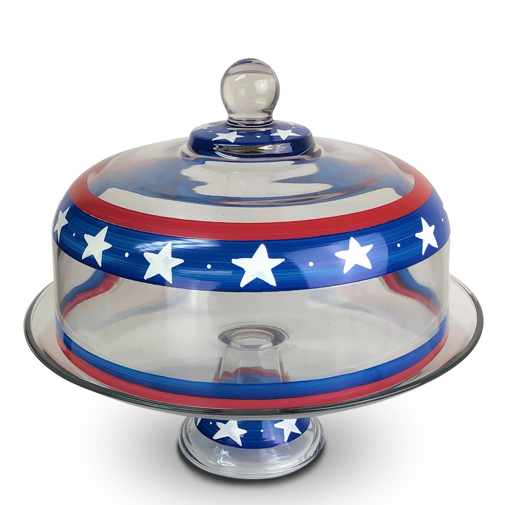 Stars & Stripes Cake Dome - Golden Hill Studio