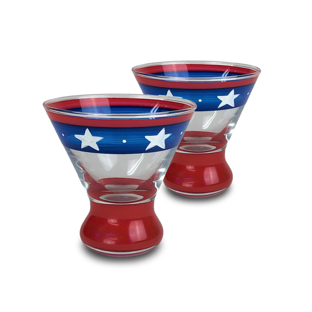 Stars & Stripes Cosmos Glass S/2