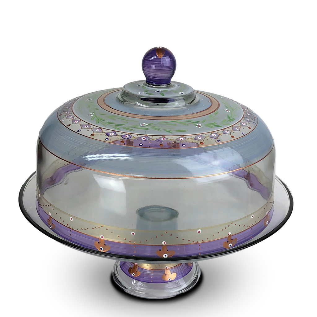 Moroccan Mosaic Lilac Lg Cake Dome