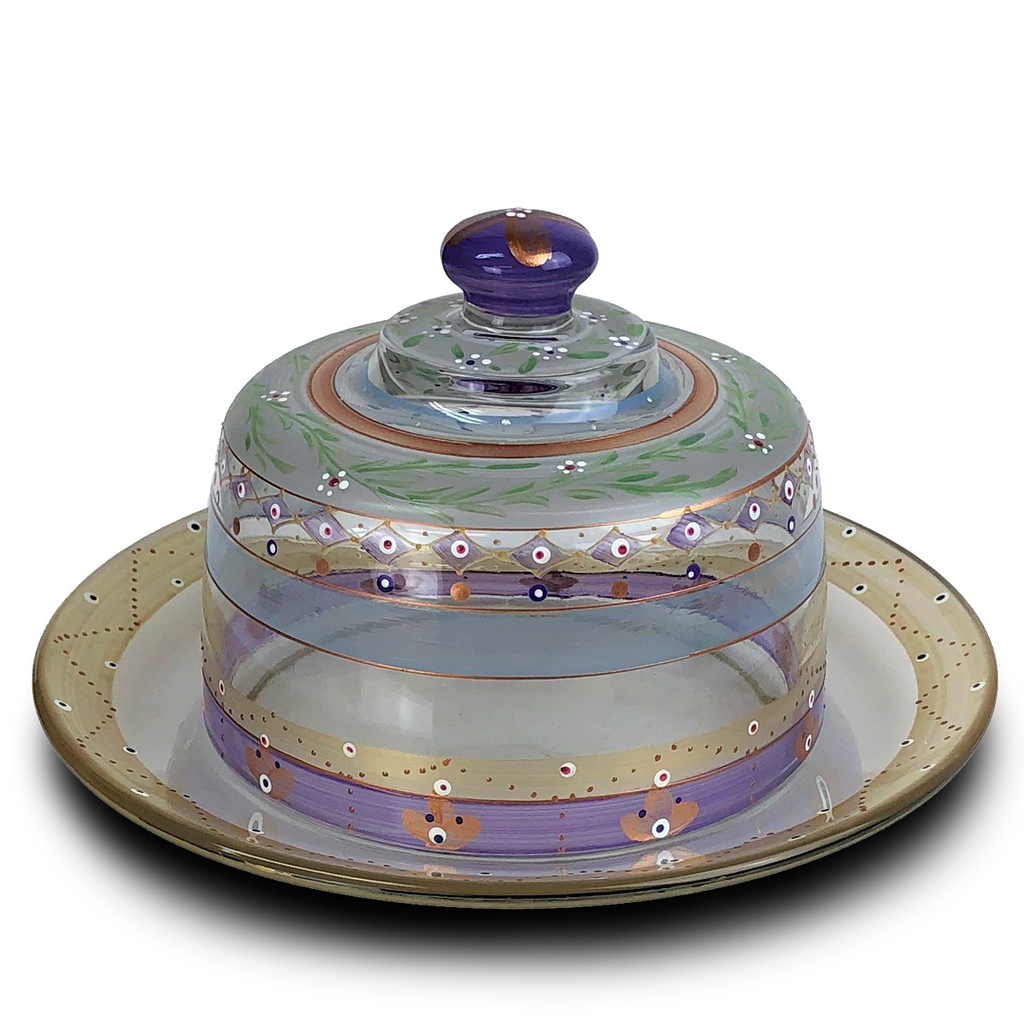 Moroccan Mosaic Lilac Cheese Dome