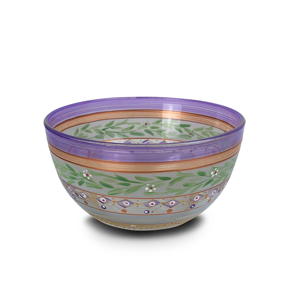 "Moroccan Mosaic Lilac 6"" Bowl - Golden Hill Studio"