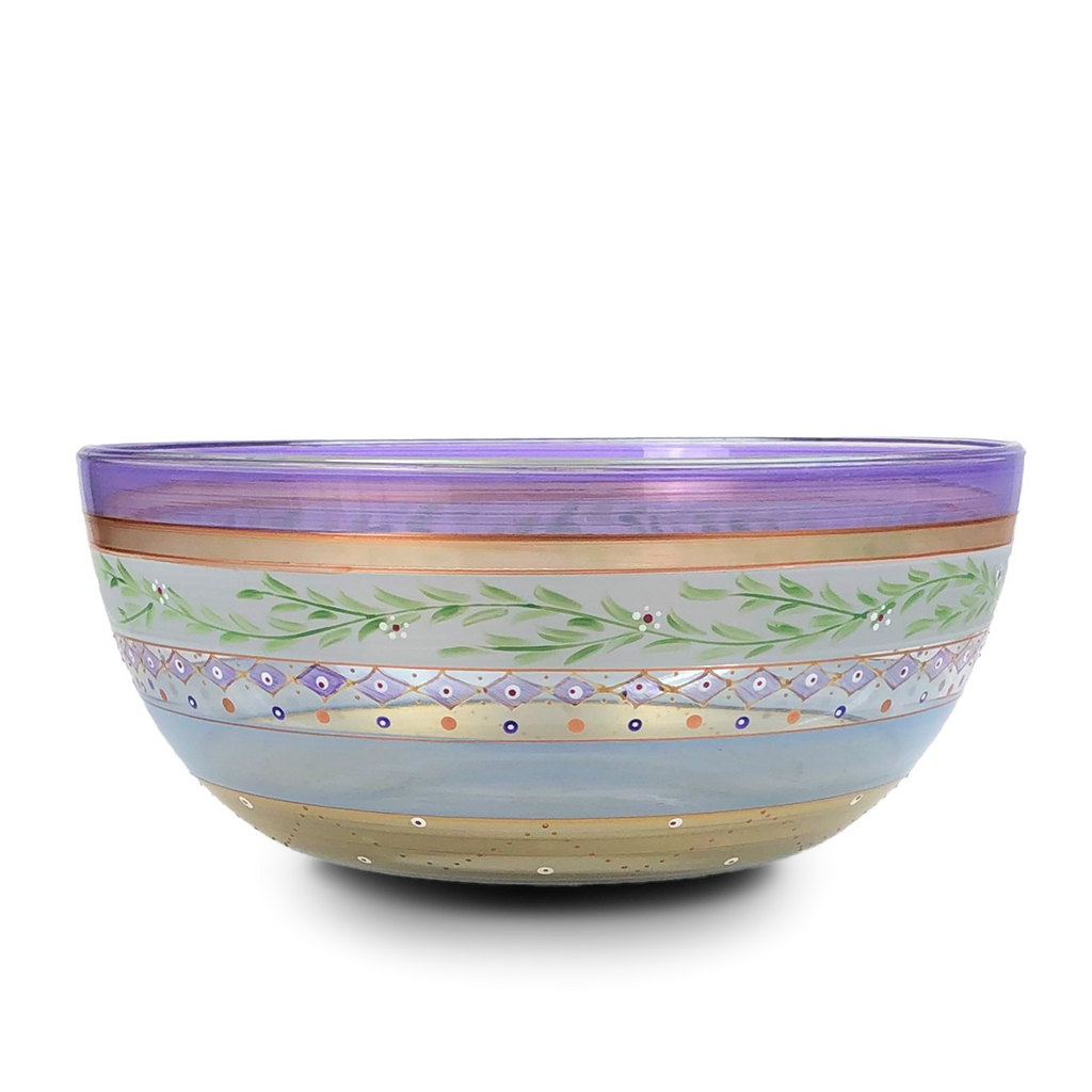 "Moroccan Mosaic Lilac 11"" Bowl - Golden Hill Studio"