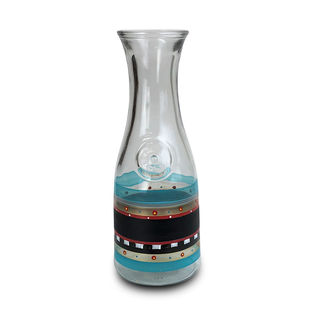 Moroccan Mosaic Chalk Carafe - Golden Hill Studio