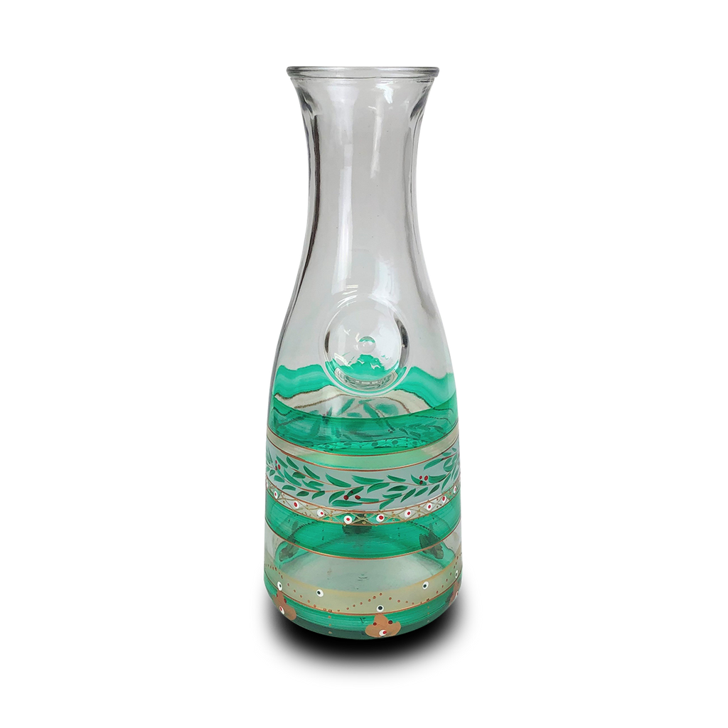 Moroccan Mosaic Forest Carafe - Golden Hill Studio