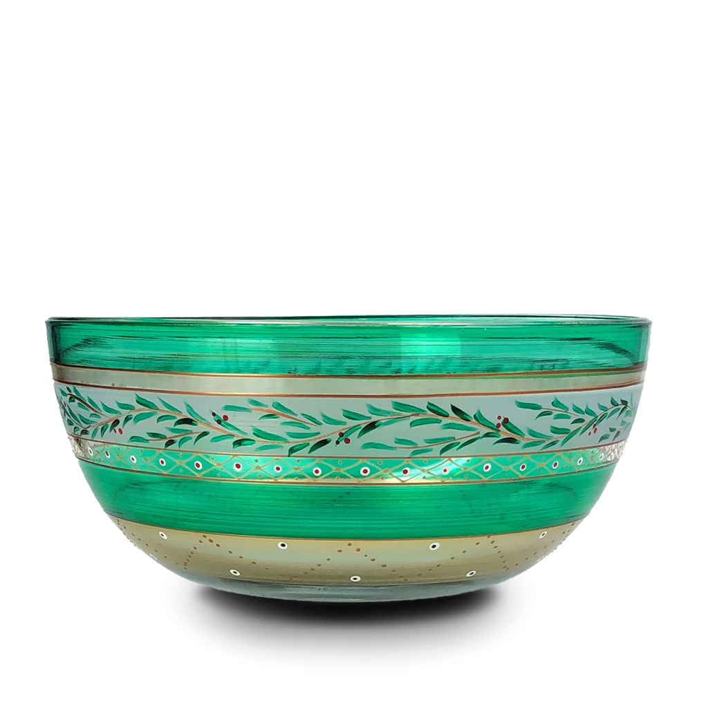 "Moroccan Mosaic Forest 11"" Bowl - Golden Hill Studio"