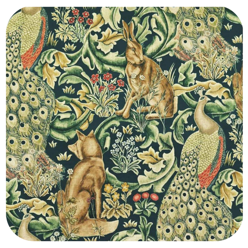 William Morris Rabit Coaster - Golden Hill Studio