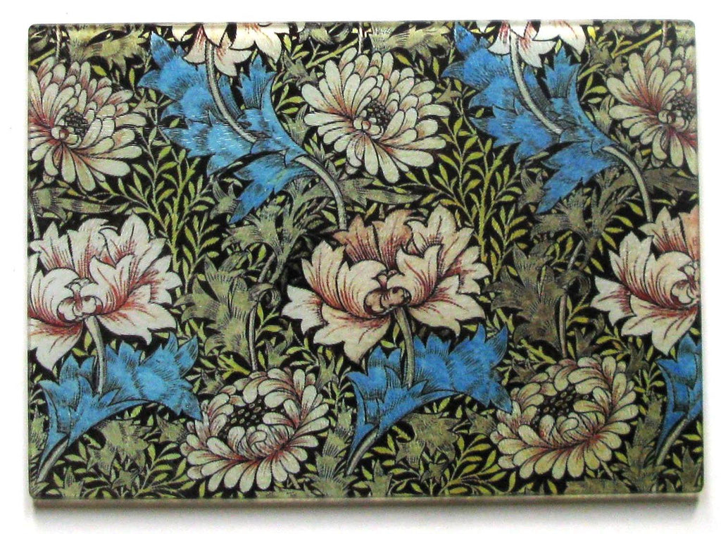 William Morris Blue Flower Cheese Tray/Cutting Board - Golden Hill Studio