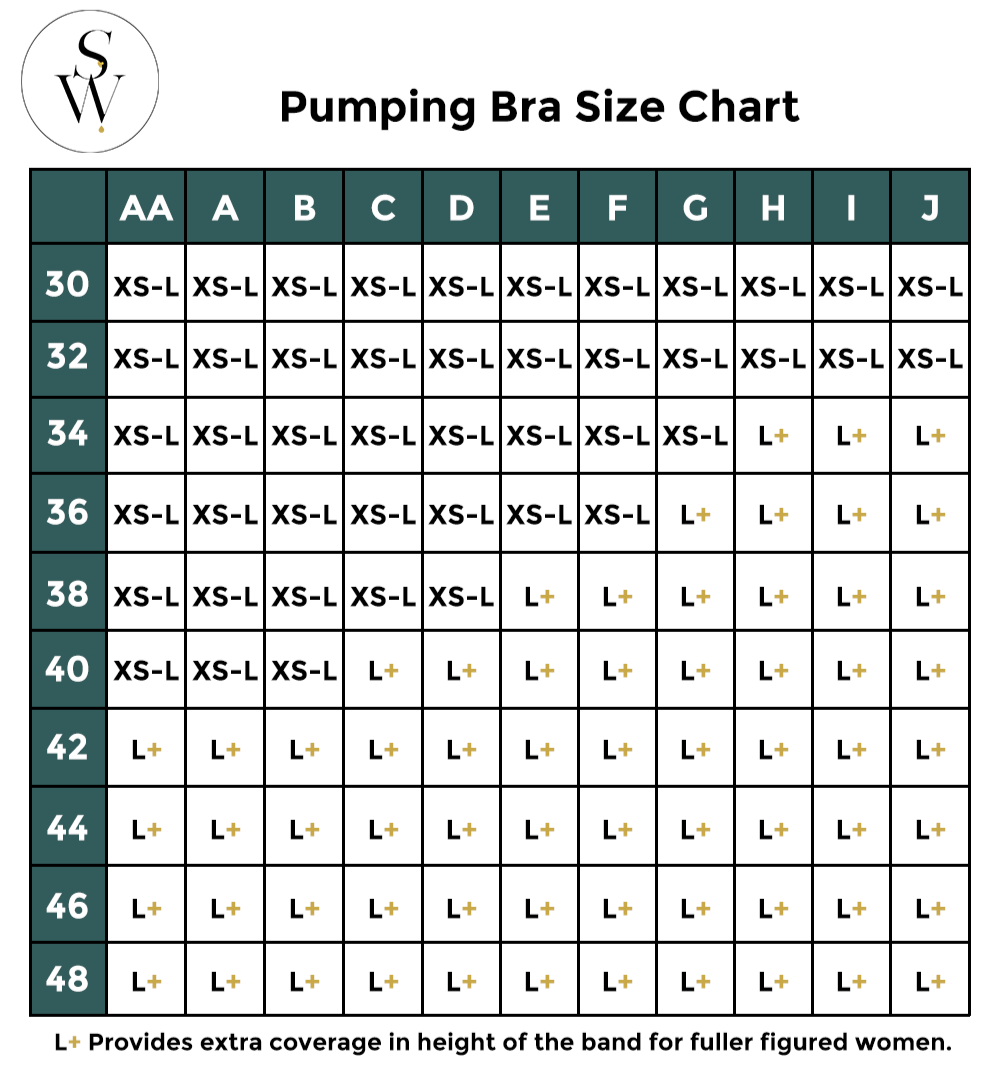 Simple Wishes Pumping Bra Size Guide