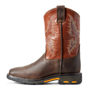 Kid's ARIAT WorkHog Wide Square Toe Boot