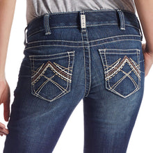 Load image into Gallery viewer, Women's ARIAT R.E.A.L. Low Rise Stretch Rosy Whipstitch Boot Cut Jean