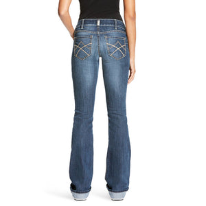 WOMEN'S ARIAT R.E.A.L. Mid Rise Stretch Tulip Boot Cut Jean PLUS SIZES
