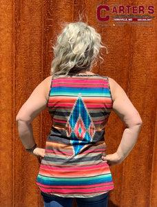 WOMEN'S CRAZY TRAIN WILD ONE AZTEC TANK