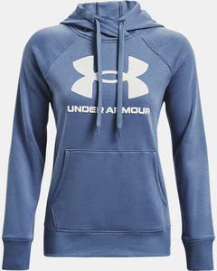 Women's UNDER ARMOUR Rival Fleece Logo Hoodie (Mineral Blue)