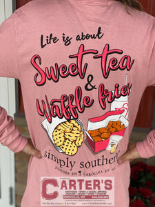Simply Southern Long Sleeve Sweet Tea and Waffle Fries