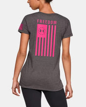 Load image into Gallery viewer, Women's UNDER ARMOUR Freedom Flag T-Shirt