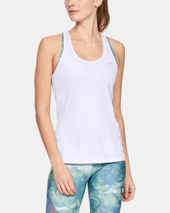 Women's UNDER ARMOUR HeatGear® Armour Racer Tank (White)