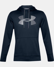 Load image into Gallery viewer, Men's UNDER ARMOUR Fleece Big Logo Hoodie (Academy/Mod Gray)