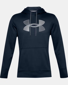 Men's UNDER ARMOUR Fleece Big Logo Hoodie (Academy/Mod Gray)