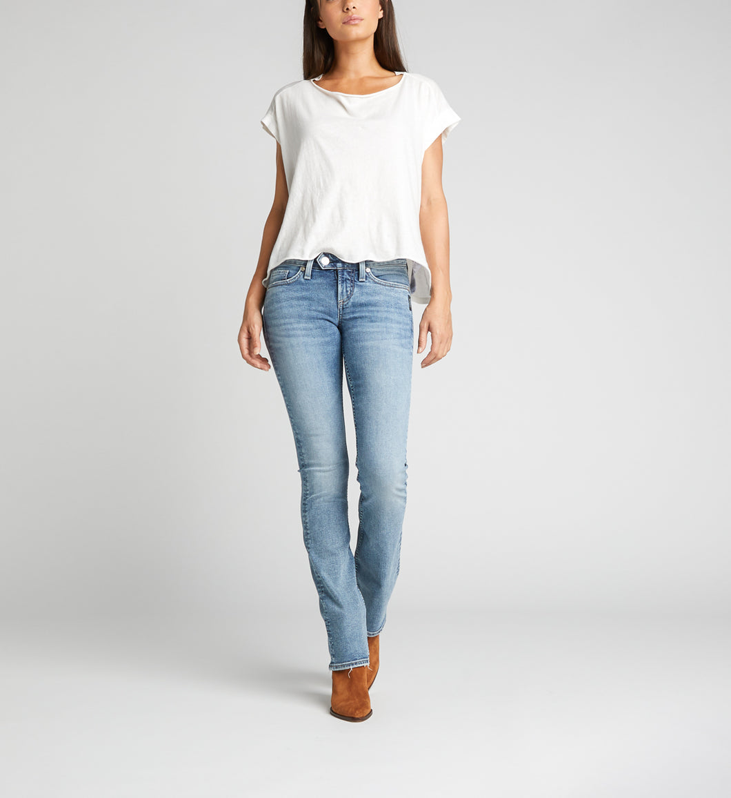 WOMEN'S SILVER TUESDAY LOW RISE SLIM BOOTCUT JEANS