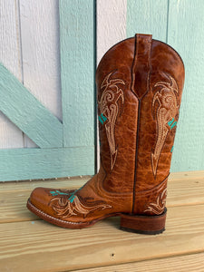 Women's CIRCLE G by CORRAL Square-Toe Embroidered Cowgirl Boot