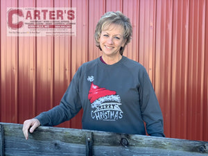 Women's SOUTHERN COUTURE Merry Christmas Lightweight Crew