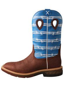TWISTED X Men's 12″ Western Work Boot with CellStretch®