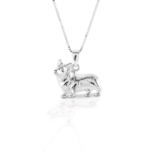 KELLY HERD SMALL CORGI NECKLACE - STERLING SILVER