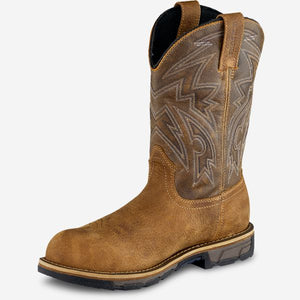 IRISH SETTER MARSHALL MEN'S 11-INCH WATERPROOF LEATHER SAFETY TOE PULL-ON BOOT